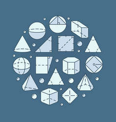 geometry and mathematics vector image vector image