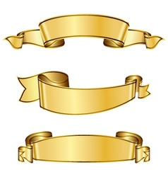 gold ribbon collection vector image