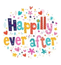 Happily ever after vector