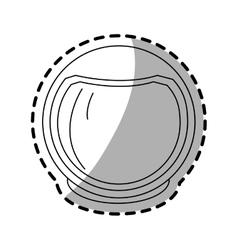 Isolated astronaut helmet design vector