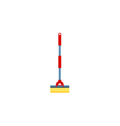 Isolated cleaner flat icon sweep element vector
