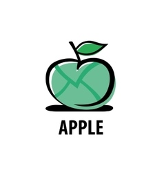 logo apple vector image