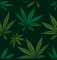 Marijuana leaf seamless pattern vector