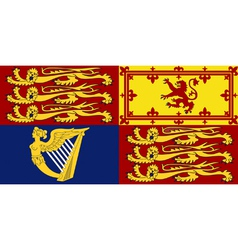 Royal Standard of the United Kingdom vector image vector image