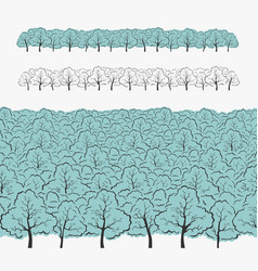 Set of elements tree and forest vector