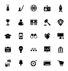 SME icons on white background vector image vector image