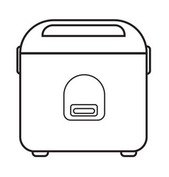 Thin line rice cooker icon vector