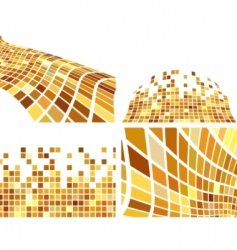 vector golden abstract backgrounds set vector image vector image