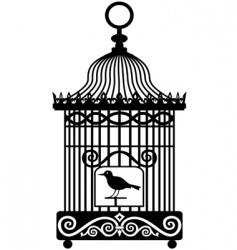 Vintage birdcage vector