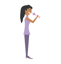 woman celebrating cartoon vector image