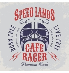 Cafe racer t-shirt print vector image