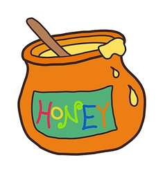 Icon honey vector