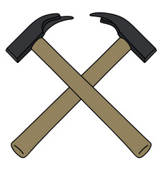 Two crossed hammers vector