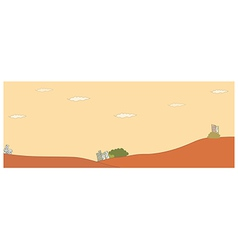 Idyllic landscape background vector