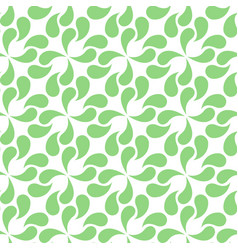 Seamless abstract green leaves pattern vector