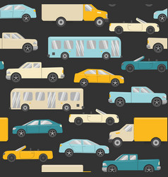 Bright seamless pattern with cars vector