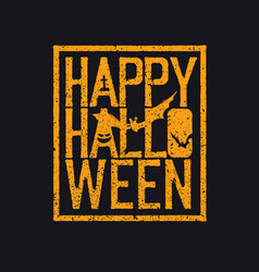 Happy halloween logotype grunge stamp letters and vector