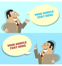 Businessman speech bubble with place for message vector