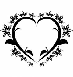heart floral tattoo vector image