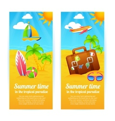 Summer vacation banners vector
