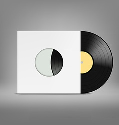 Old vinyl record vector