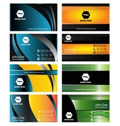 Collection vertical business cards templates vector