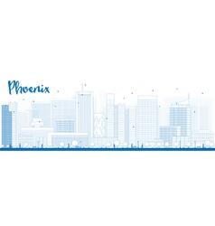 Phoenix outline vector image