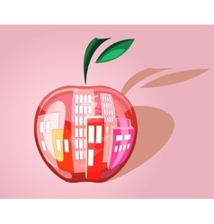 City in the apple vector