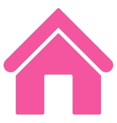 Home flat pink color icon vector