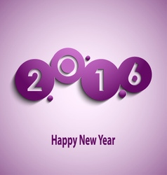 Abstract violet New Year wishes with circles vector image