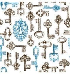 sketch vintage key vector image