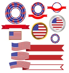Banners and ribbons American vector image