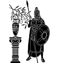 ancient hellenic man vector image