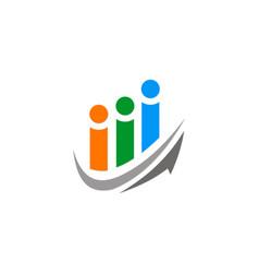 arrow people group logo vector image