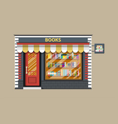 book shop or store building vector image vector image