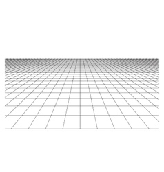 Checkered floor with square tiles in perspective vector image