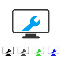 Desktop options flat icon vector