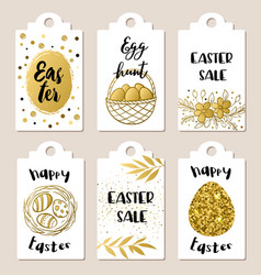 easter sale tags vector image vector image