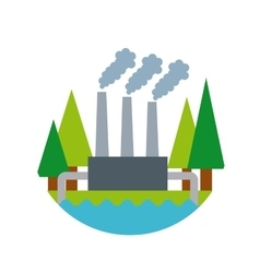Factory plant icon vector