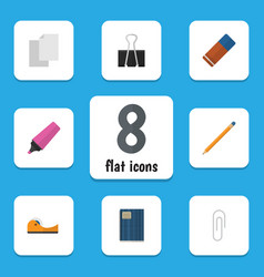 Flat icon equipment set of rubber sheets marker vector