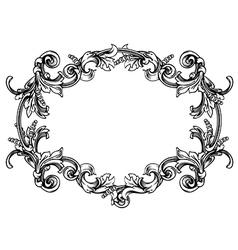 Floral label frame 8 vector image