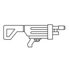 Game gun icon outline style vector