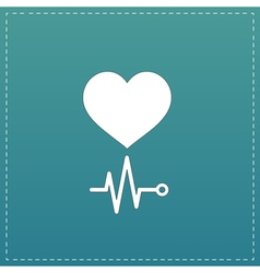 Heart with its cardiogram vector image vector image