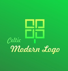 Irish celtic modern logotype vector