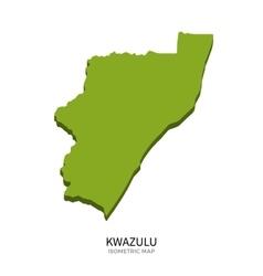 Isometric map of KwaZulu detailed vector image vector image