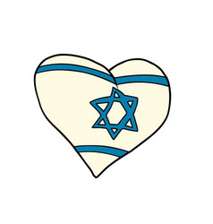 Israel heart patriotic symbol vector
