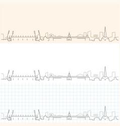 Karlsruhe hand drawn skyline vector