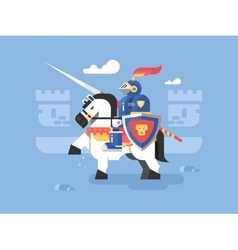 Knight on horseback character vector