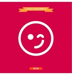 Logo winking smile icons of a vector