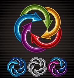Looping arrows abstract symbol conceptual special vector